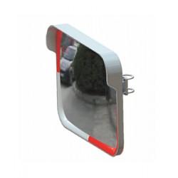 Evelux Trafik Güvenlik Aynası Kare 12246 TGA Beyaz-Kırmızı